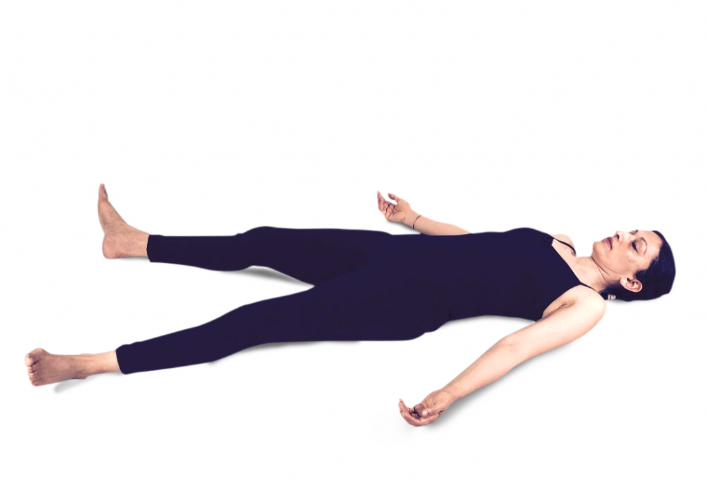 Shavasana or dead man's pose