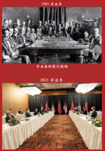 中美会谈,辛丑年