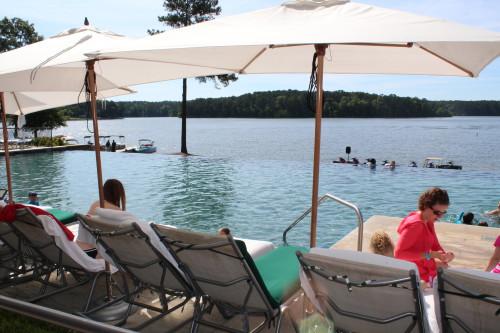 Infinity pool overlooking Lake Oconee