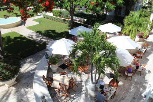 View of Parallel 23 patio from the ballroom patio above