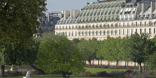 Le Meurice overlooks the Tuileries Garden.