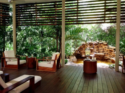 Rosewood spa relaxation area