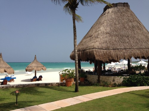 The famous beachfront Freddy's Tequila Bar at Belmond Maroma
