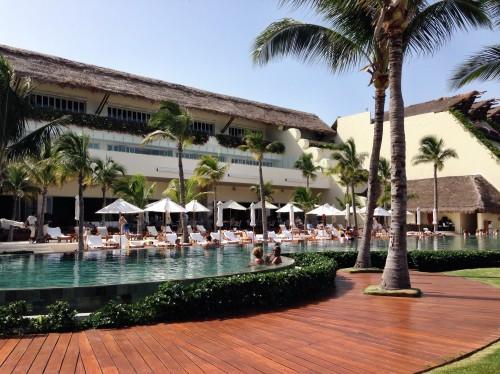 Grand Velas beachfront pool
