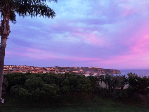 Purple-y sunset just off my patio at the Ritz Laguna