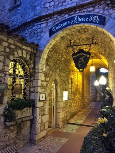 Chateau de la Chevre D'Or, a 5* property with 38 rooms, set just a bit lower in the village than Chateau Eza
