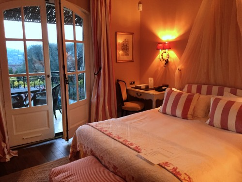 Classic room at Le Mas de Pierre, traditional French decor but oh-so-cozy!