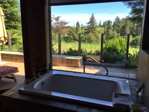 Ventana Inn.. bathtub views