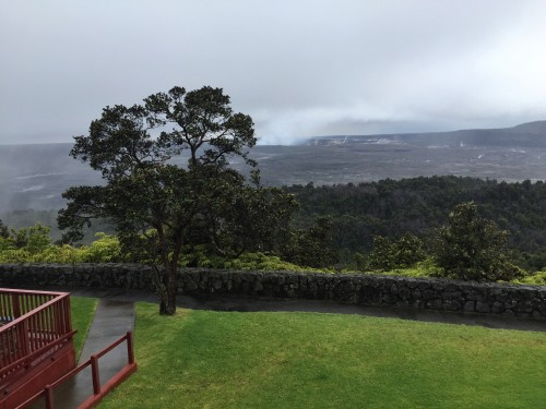 View from our room at Volcano House
