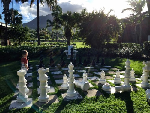 Life-size chess!