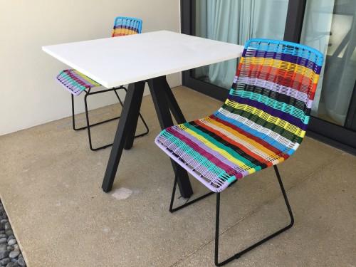 Fun patio chairs!