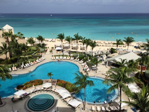 Ocean View room views over the pool and Seven Mile Beach!