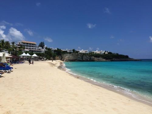 White sand beach & calm waters!