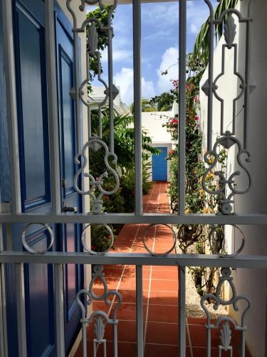Seemingly secret villa doors at Cuisinart..
