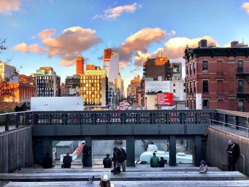 Such a unique view of the city from the High Line