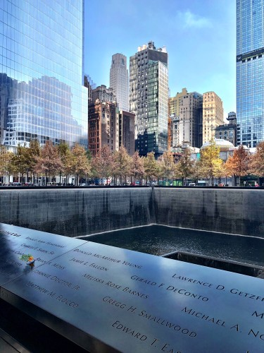 The memorial itself right outside the museum is stunning.