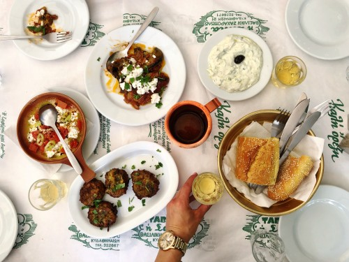 Greek yums at Taverna Saita in Athens