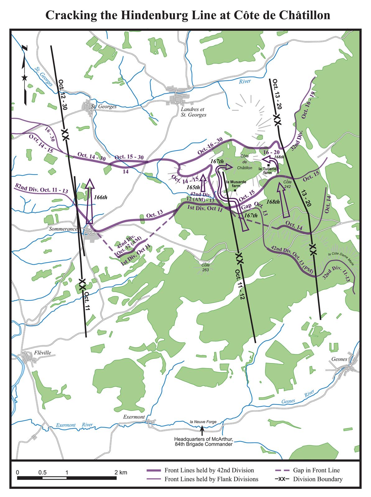 Percée de la Ligne Hindenburg à la Côte de Châtillon
