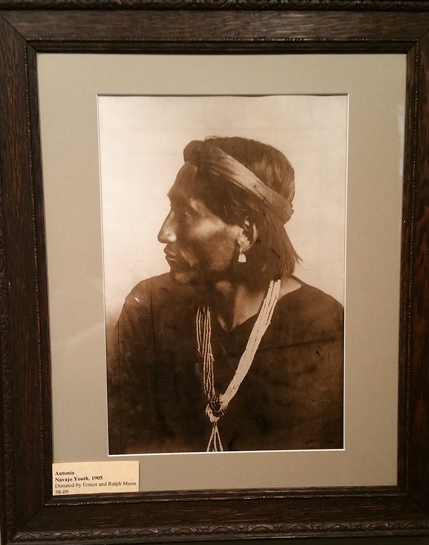 native american portrait photo by Carl Moon, photographer of the Southwest