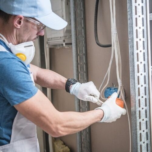 Jacksonville electrician wiring during a remodel