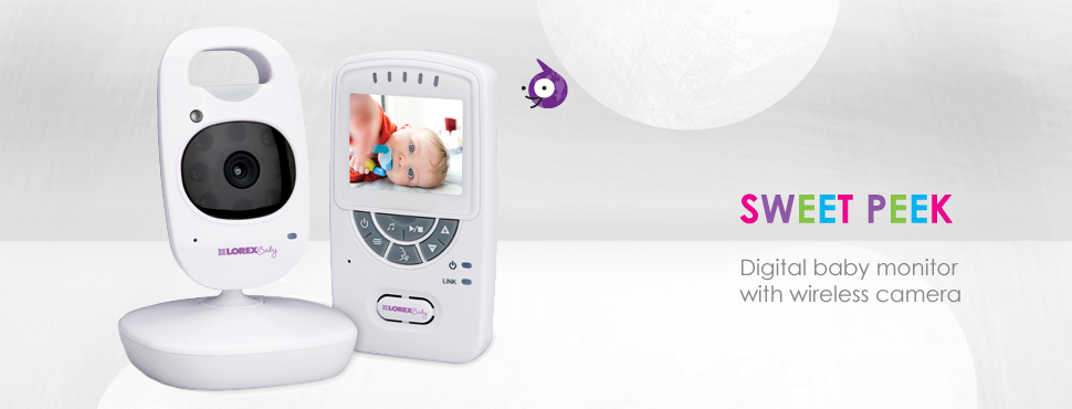 The Sweet Peek baby monitor by Lorex.