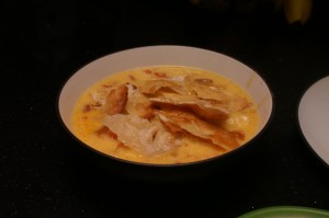 Max and Erma knock-off tortilla soup - Mmmm, so good, but so, so rich and thick.