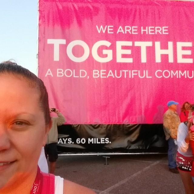 Susan G. Komen 60 miles for breast cancer was a drop in the bucket list