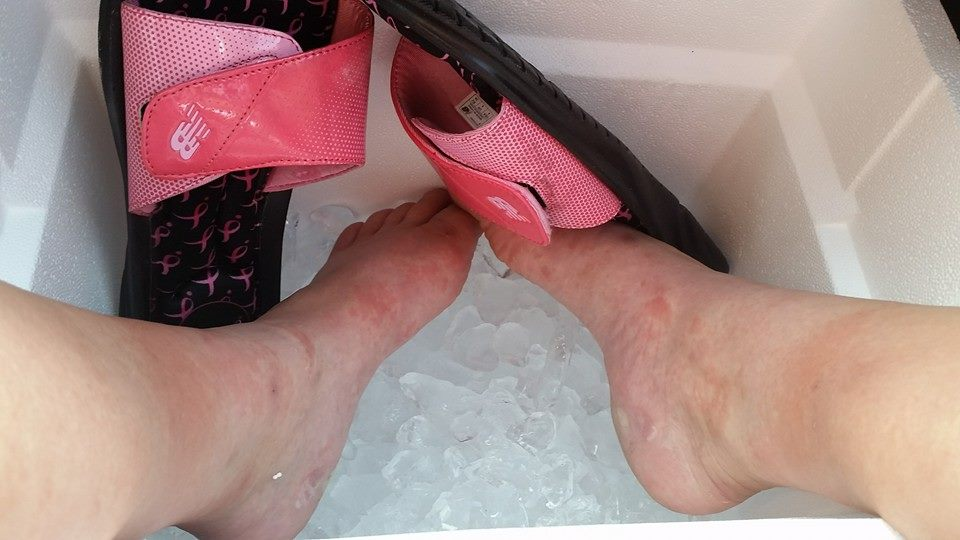 Ice bucket challenge? Nah, just give me ice on a bucket for my feet.