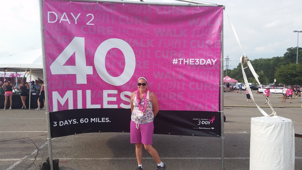 40 miles done. It was actually 44, but who is counting.