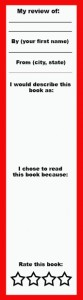 young adult and adult review bookmark copy