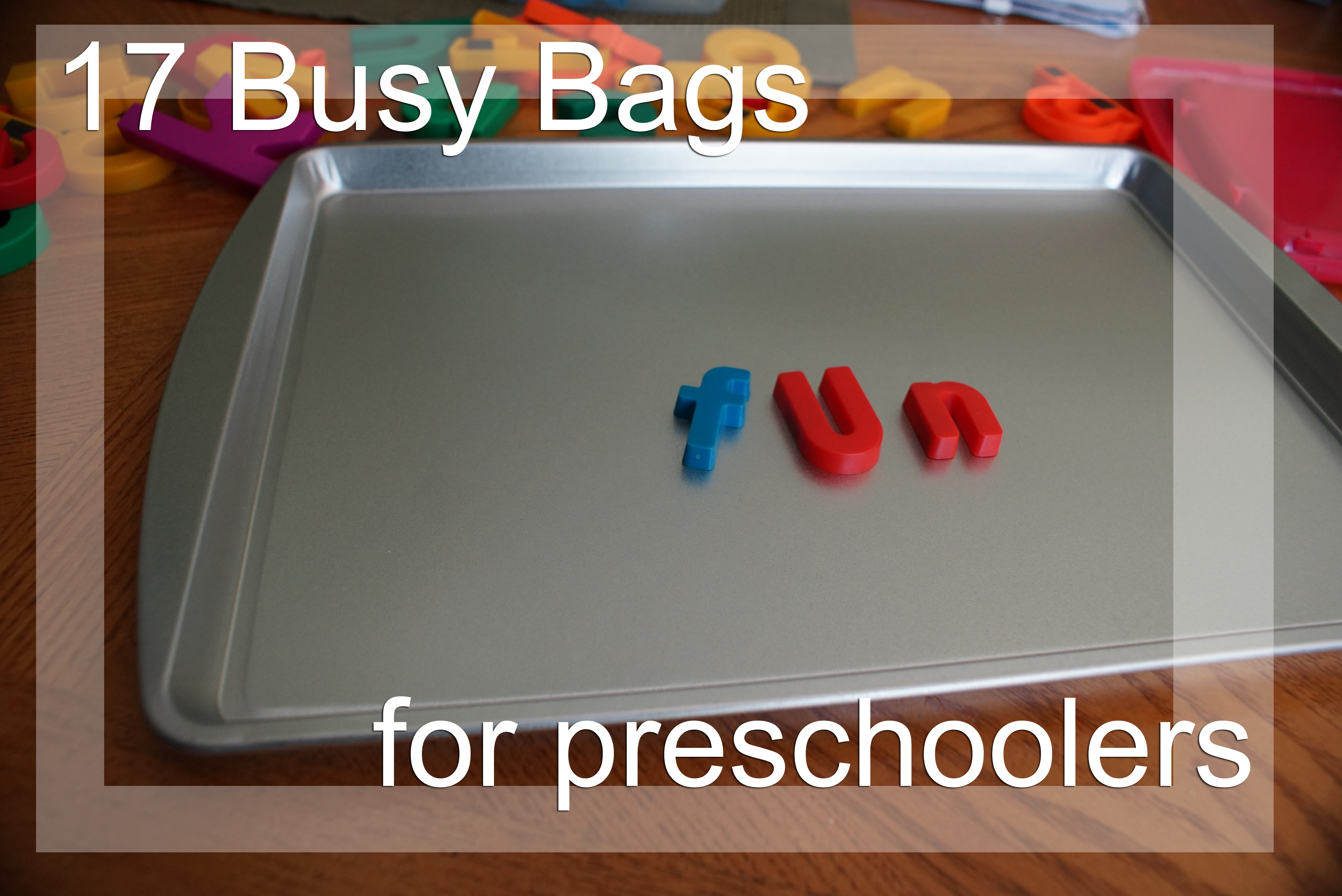 DIY Busy Bags keep your children entertained