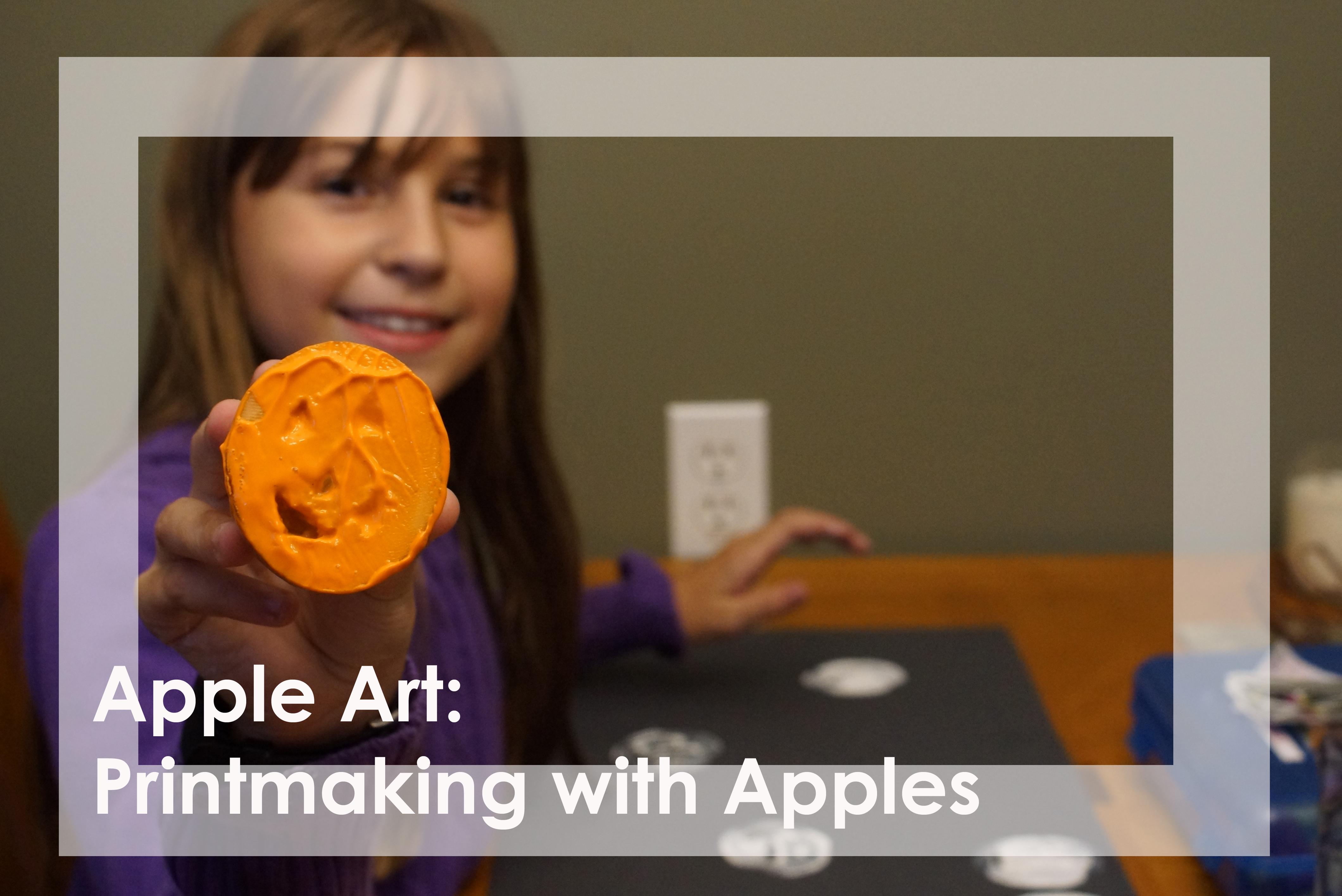 Apple Art: Using apples for printmaking