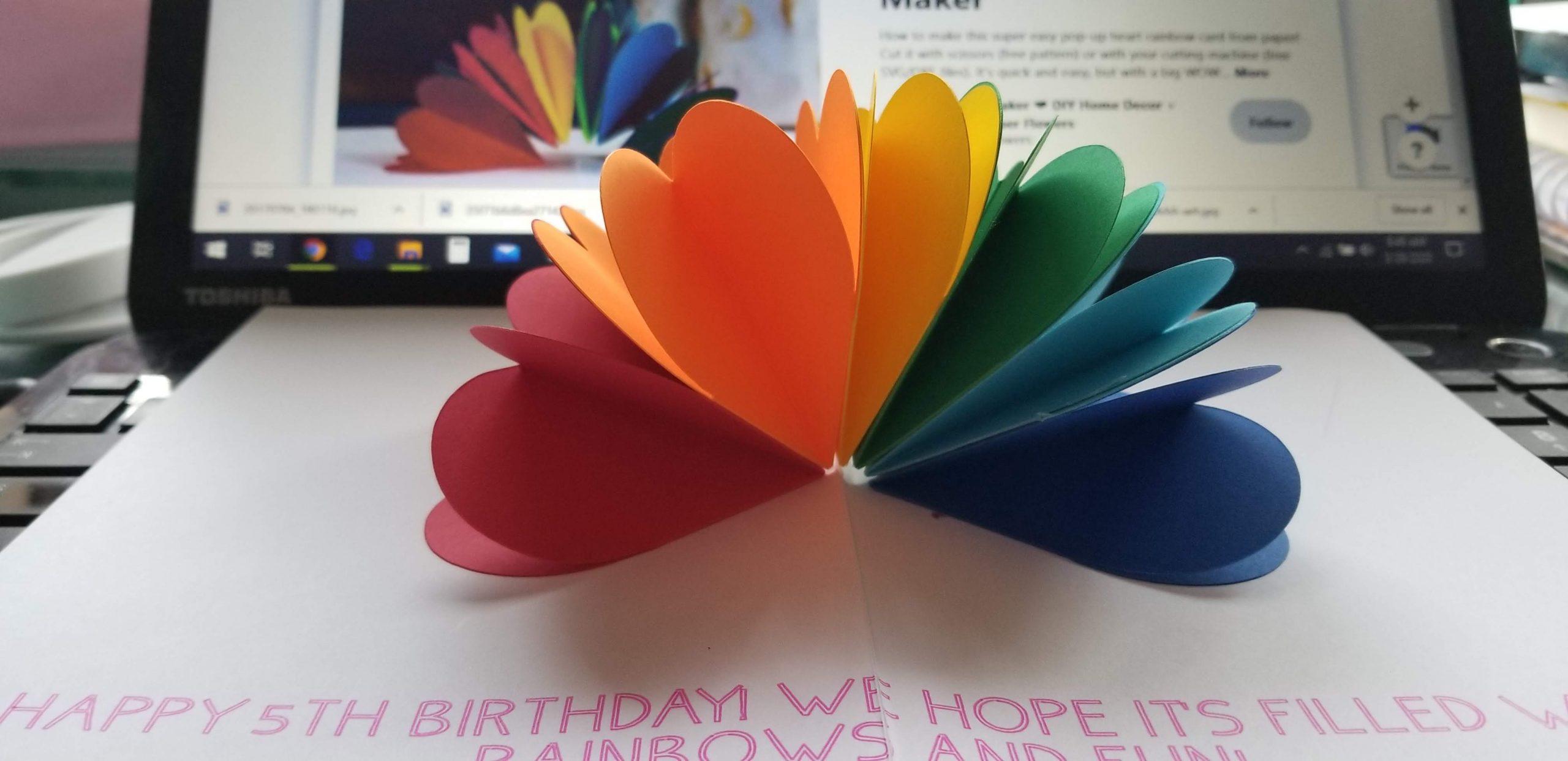 Rainbow heart card from Jennifer Maker
