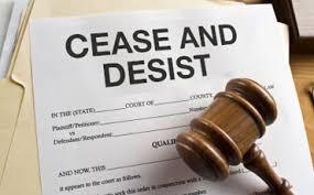 Amazon Cease and Desist