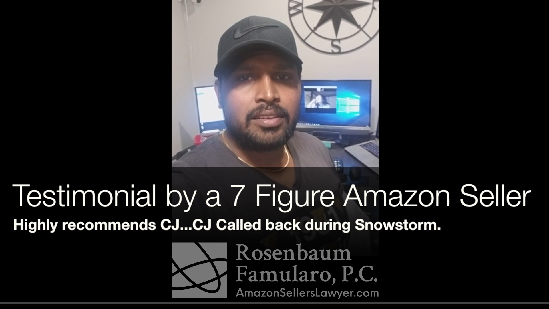 testimonial - CJ Available to Help Amazon Sellers 7 Days a Week