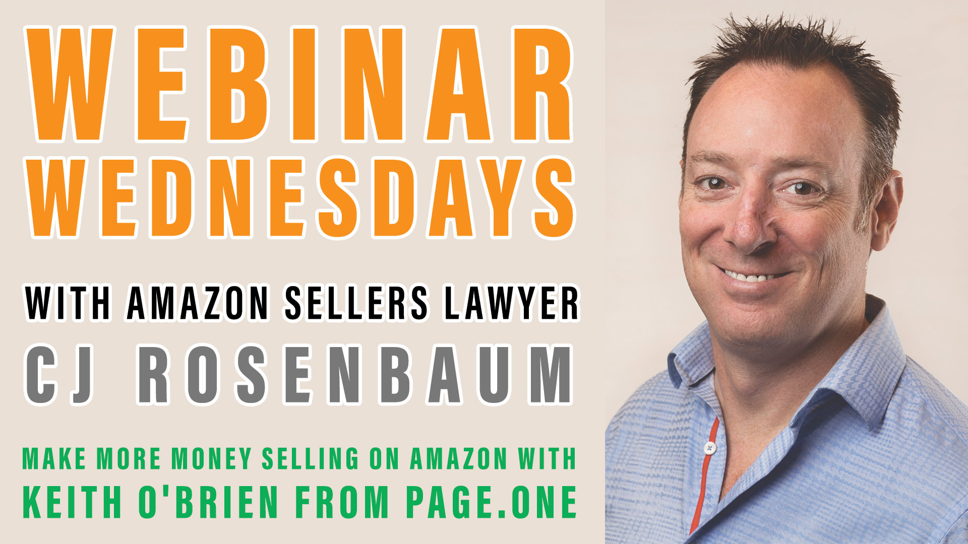 webinar - Make More Money Selling on Amazon with Keith O'Brien from Page.One