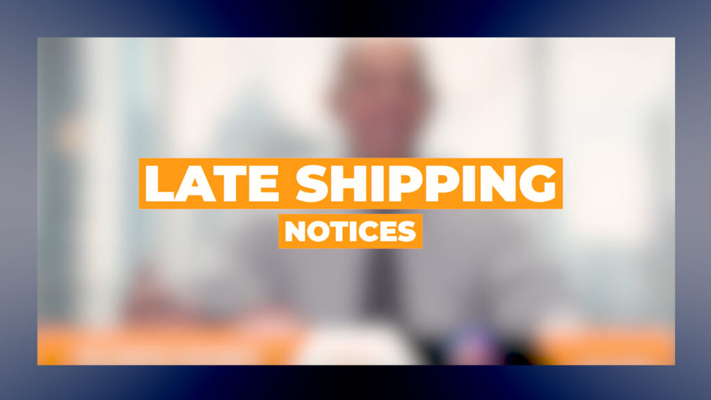 late shipping suspensions