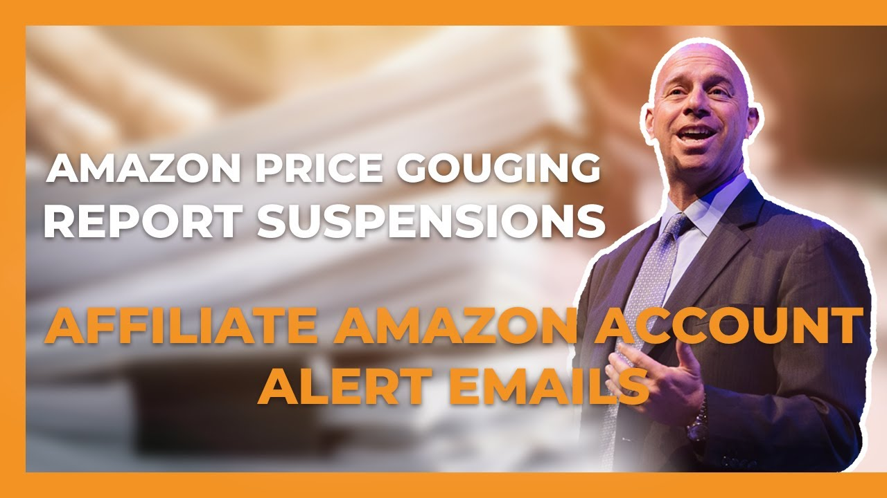 Amazon price gouging accusations against sellers & the ridiculous nature of the latest email Amazon is sending out to Amazon associate accounts.