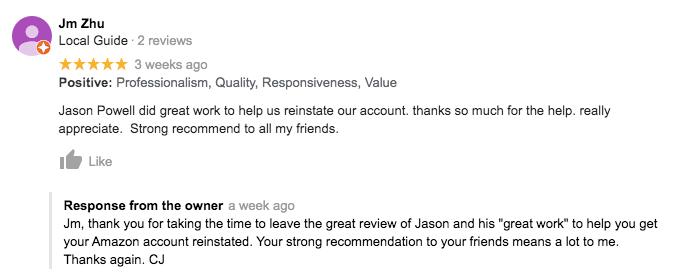 Amazon Seller Account Reinstatement