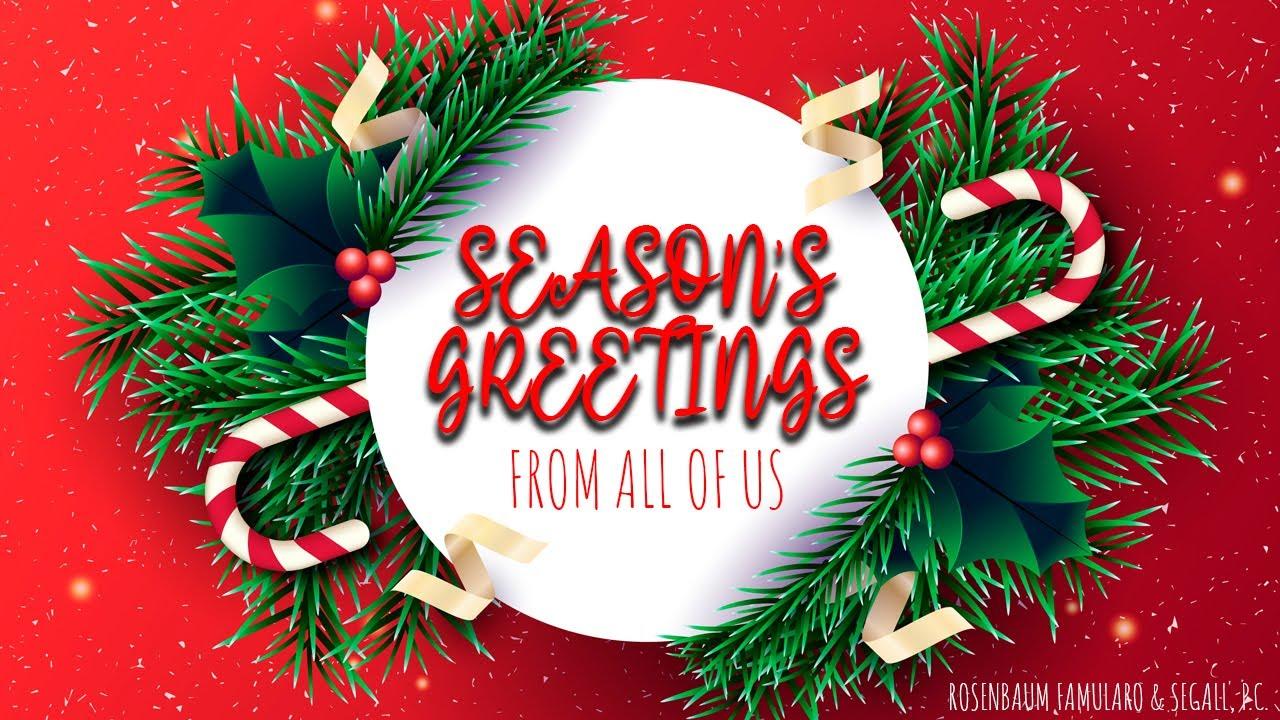 Happy Holidays & New Year from the Team at Rosenbaum, Famularo & Segall, PC