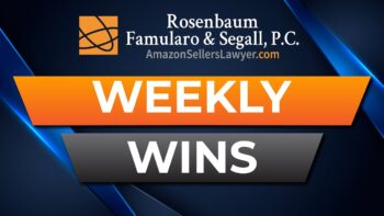 reinstatement success Amazon Sellers' Lawyer Team Weekly Wins