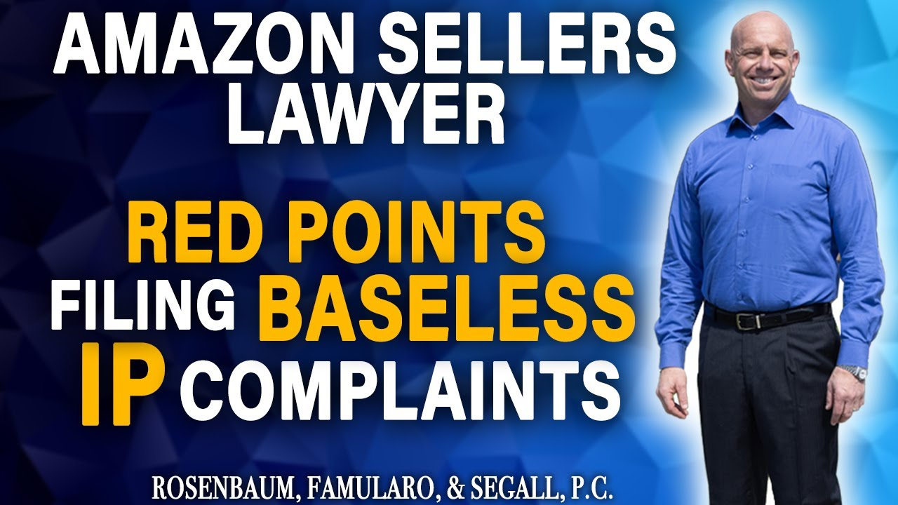 Increase in false IP Complaints from Red Points & Amazon Sellers' Required Insurance