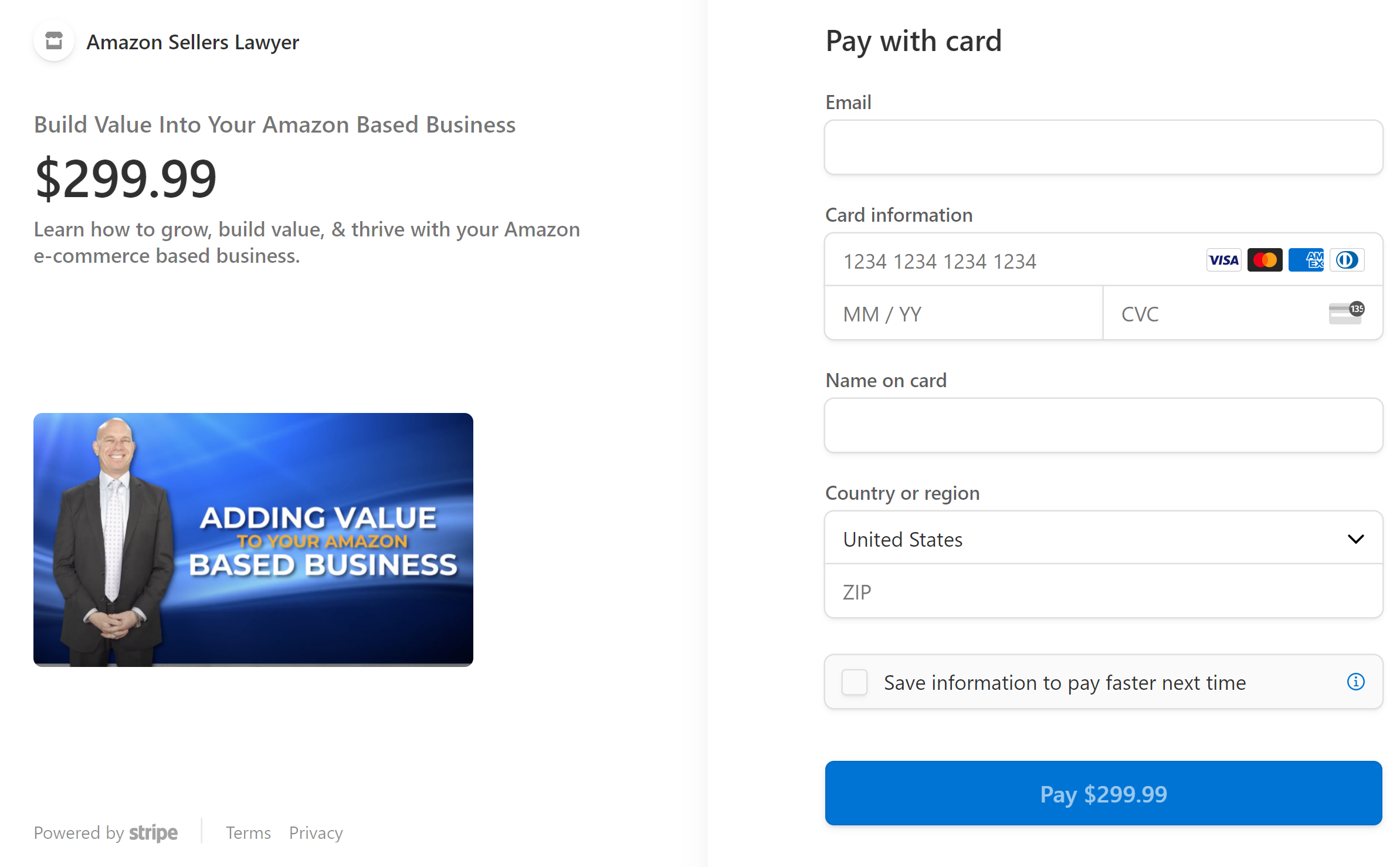 Build Value Into Amazon Business course payment