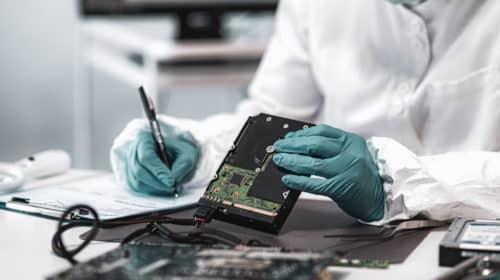 Examining a hard drive