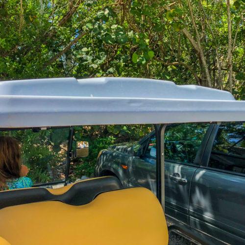 parking is easy in a sanibel cart