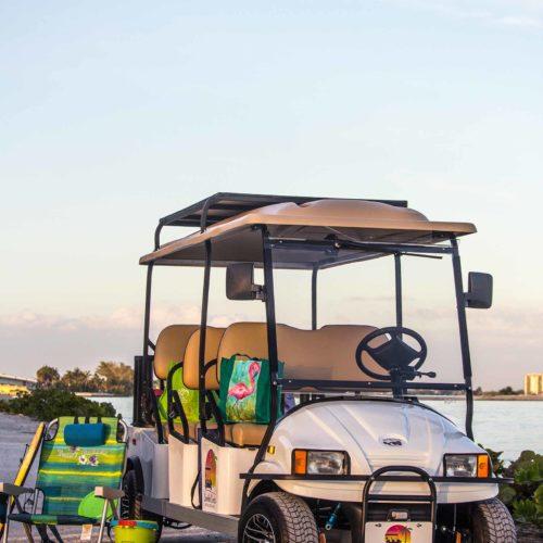 Sanibel Carts 6-Seater Beach Gear