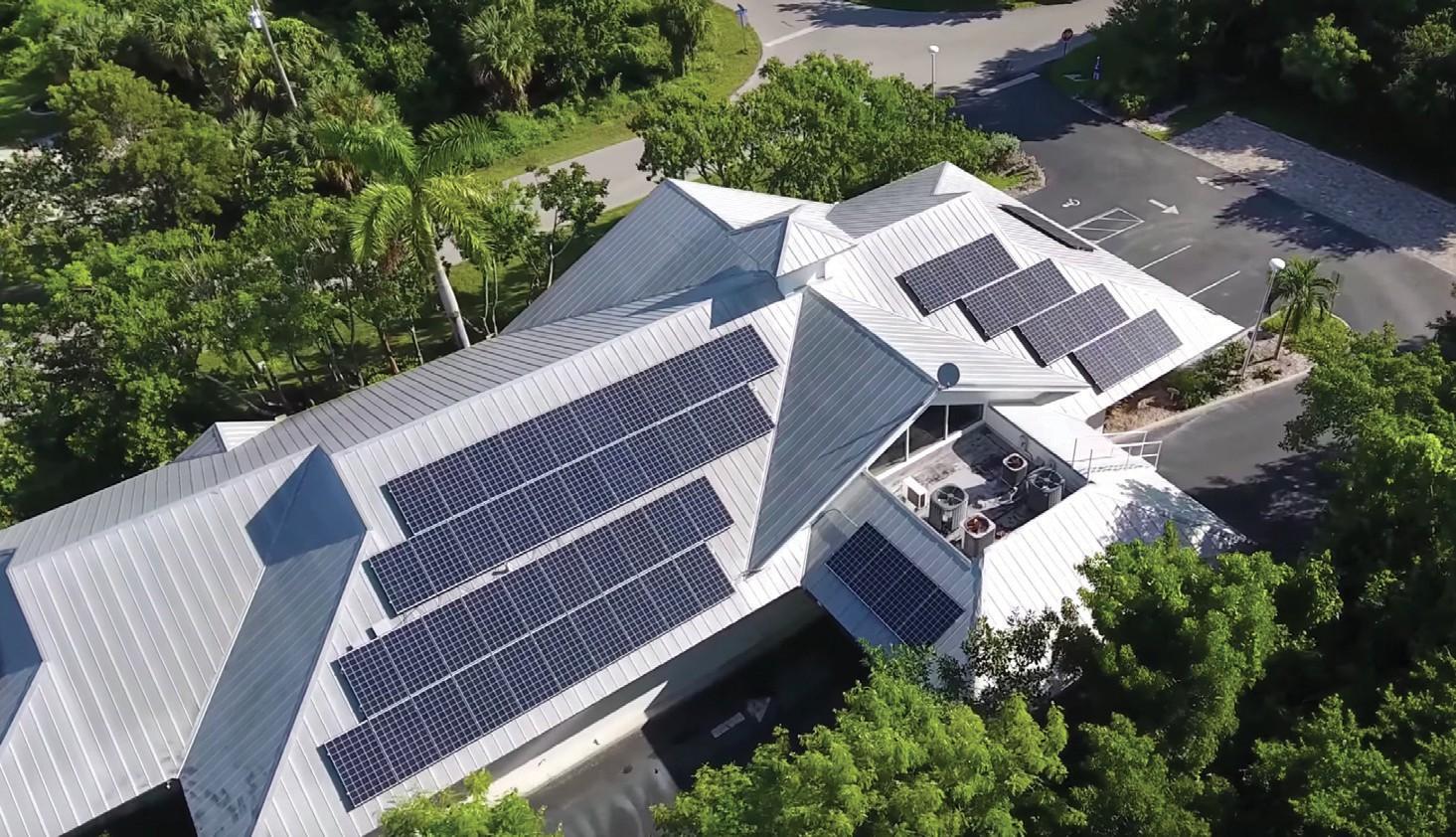 soalr panels on sancap bank building