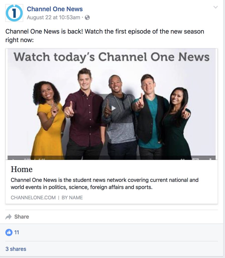 Channel One is back. Few young people care.