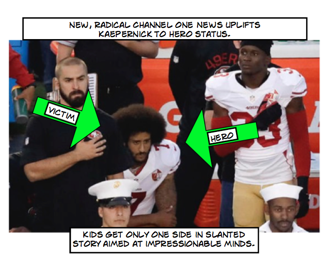 One-sided story on Kaepernick raises questions about Channel One News.
