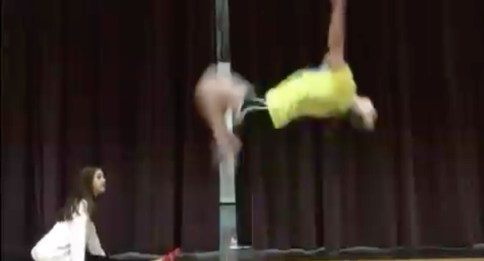 A student does a backward somersault at Wakefield Middle School, and why it matters.